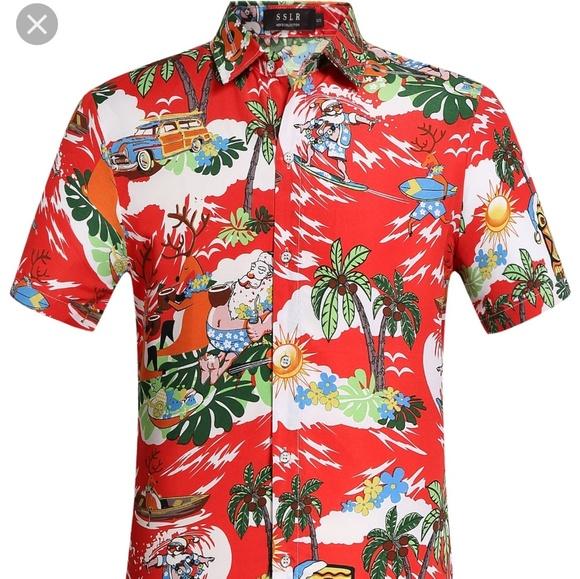 Christmas Hawaiian Shirts.Nwt Ugly Christmas Hawaiian Shirt Nwt